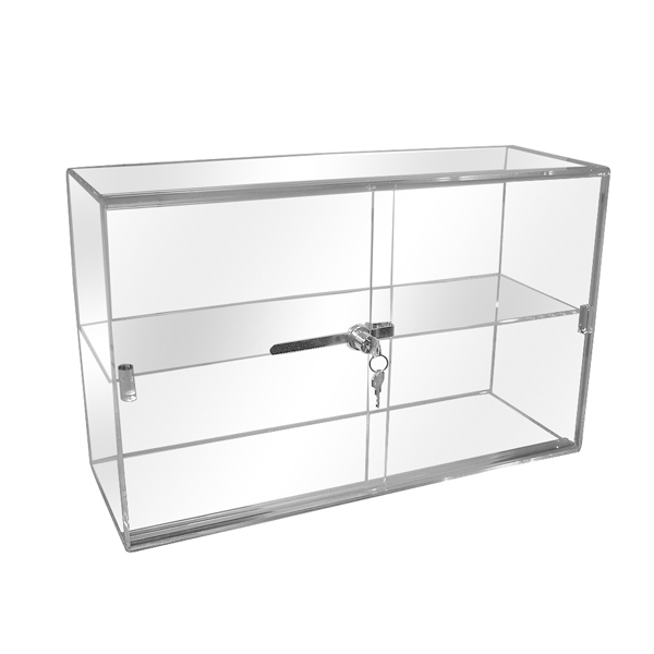 Acrylic Security Case with Sliding Back Door