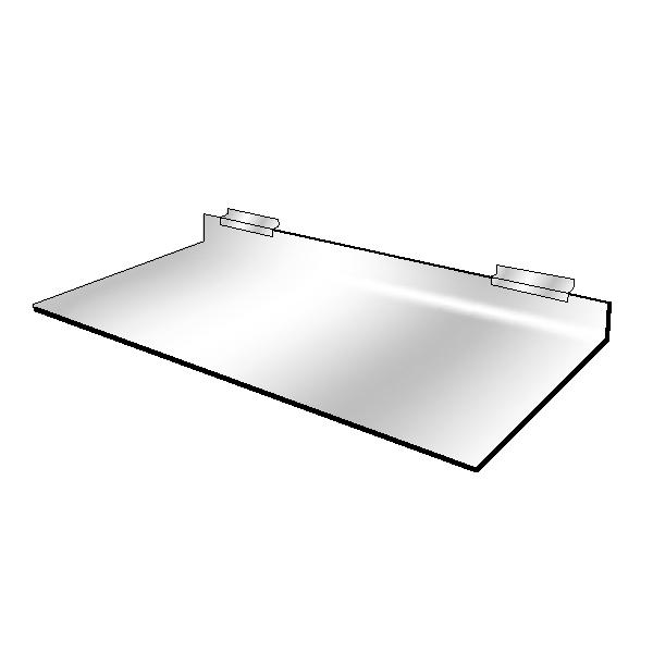 Slatwall Acrylic Slatwall Shelf