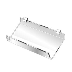 Slatwall Acrylic Slant Shelf