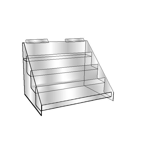 Acrylic Slatwall 4 Tier bin