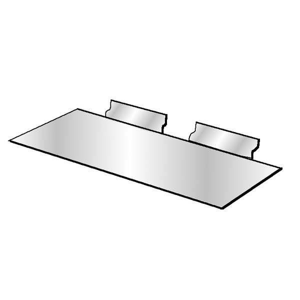 Slatwall 4″ x 10″ Styrene Shoe Shelf