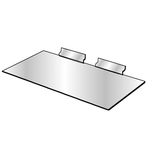 Slatwall 6″ x 12″ Styrene Utility Shelf