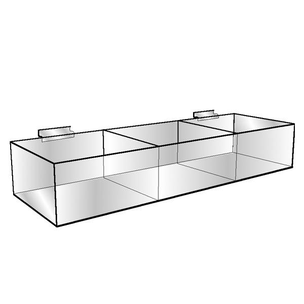 Divided Acrylic Hosiery Bin