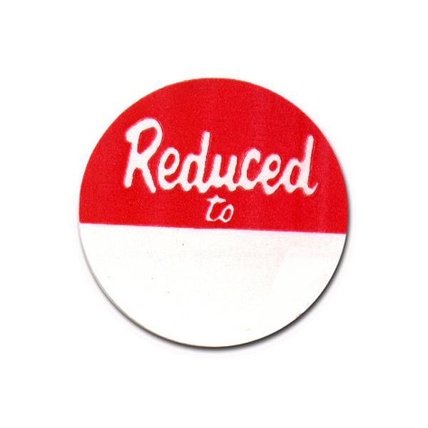 """Reduced To"" Round Adhesive Tags"