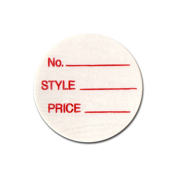 Style and Price Round Adhesive Tags