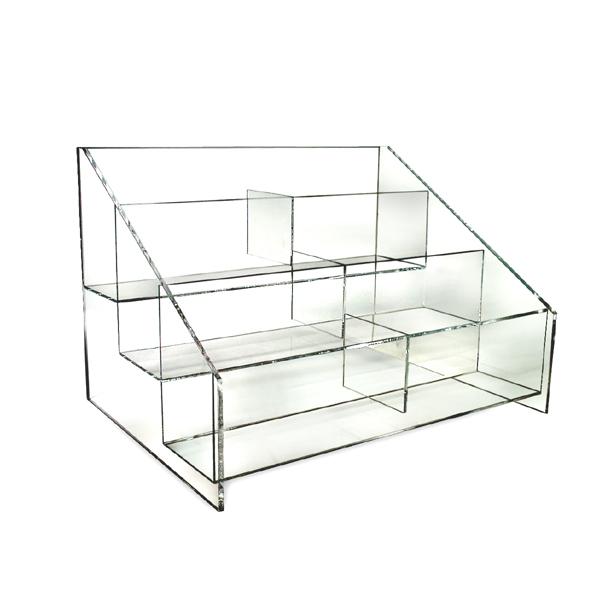 Acrylic Counter Display Bin- 6 Sections