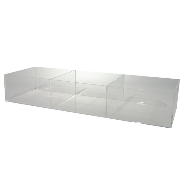 AcrylicSingle Tier Divided Counter Bin