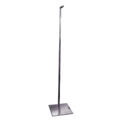 Brushed Metal Notched Hanging Adjustable Stand