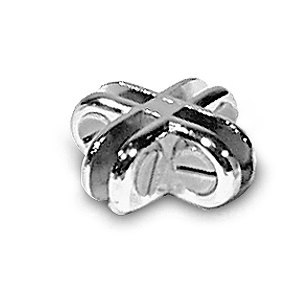 4 Way Glass Connector-Chrome