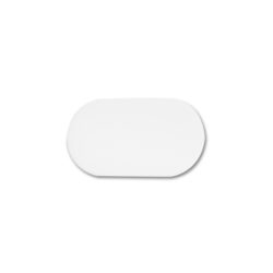 "Acme Display's 7"" x 11"" White Leatherette Pad #AL3511LW"