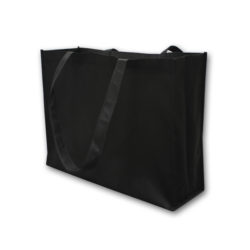 Black non-woven shopping bag