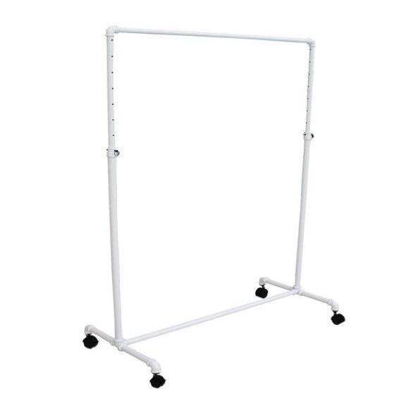 Pipe Rack Single Bar in White