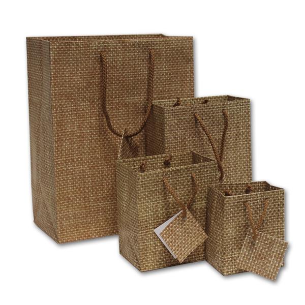Matte Burlap Jewelry Euro-Tote Bags