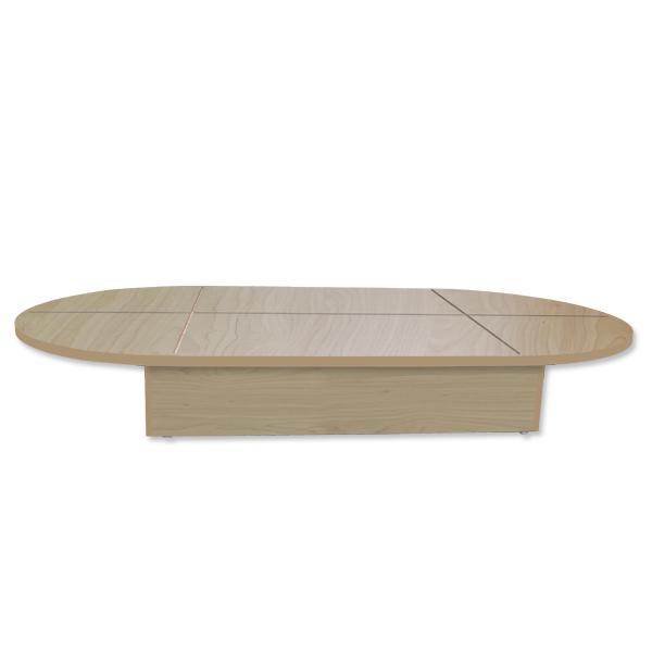 54″ Maple Oval Base