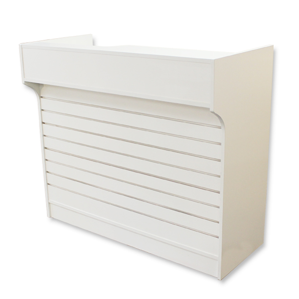 4′ Ledgetop Counter with Slatwall Front