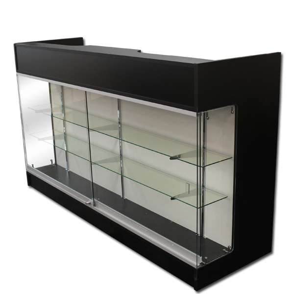 6′ Ledgetop Counter with Showcase Front