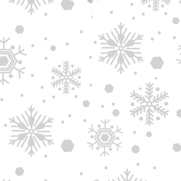 White Snowflakes Tissue