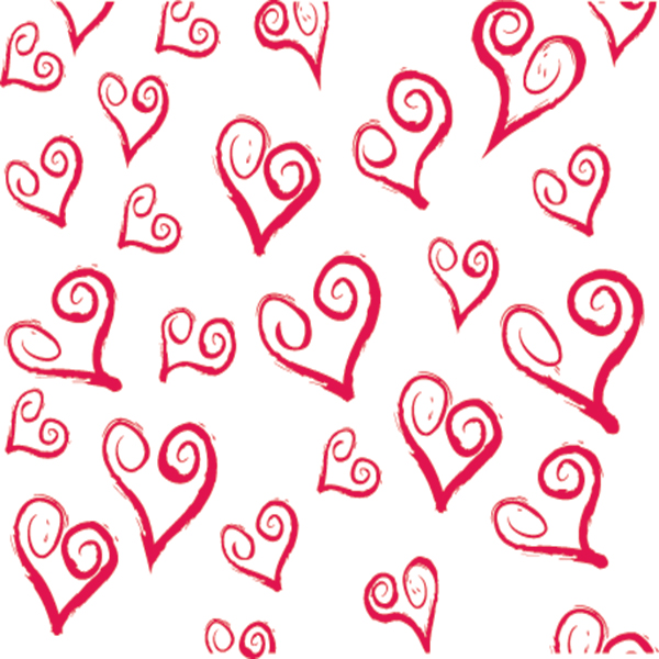 Swirly Hearts Tissue