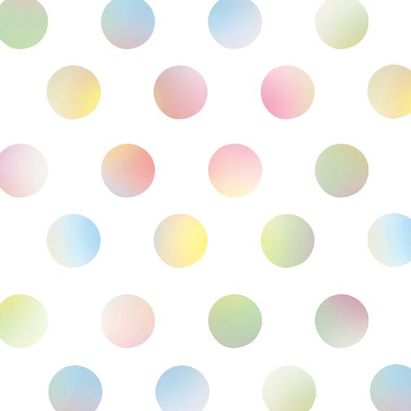 Watercolor Dots – 1″ Diameter