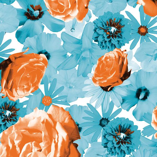 Floral Scatter Tissue