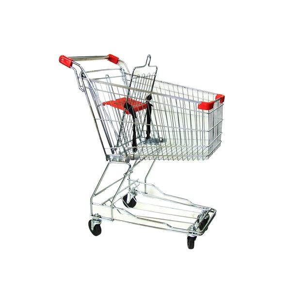 Metal Shopping Cart – 60 Liters