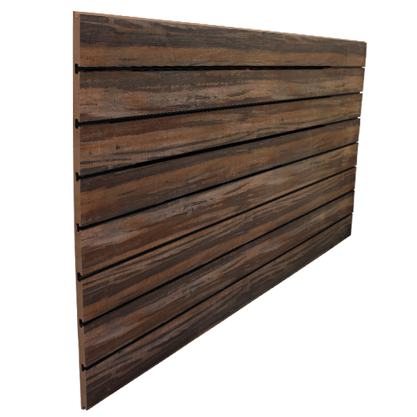 6″ O.C. Multi Wood Grain MDF Slatwall – 18mm