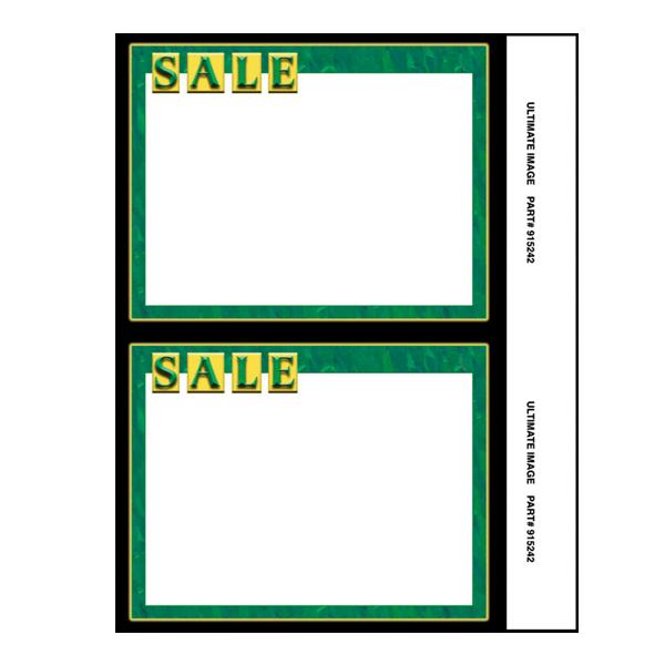 "Green ""SALE"" Card"