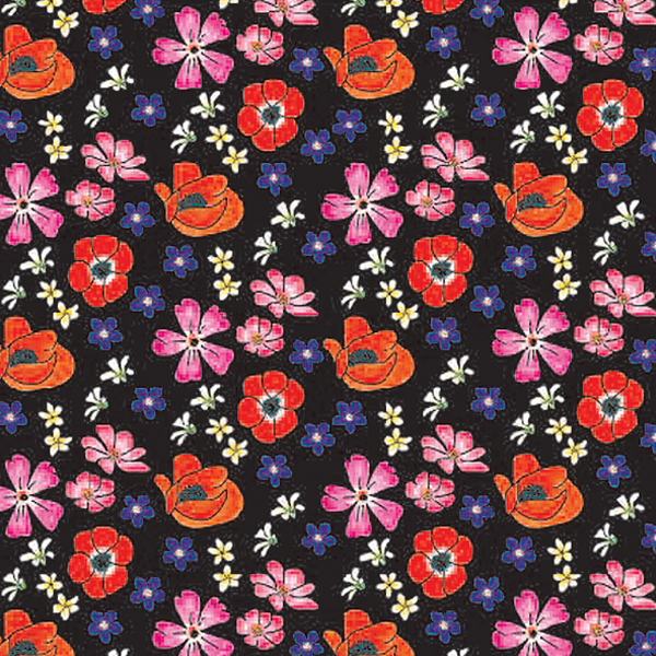 Velvet Floral Toss Tissue