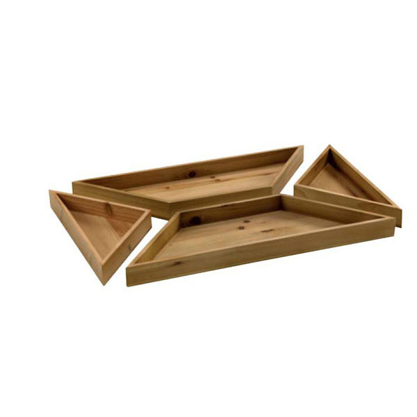 4 Piece Rectangular Tray