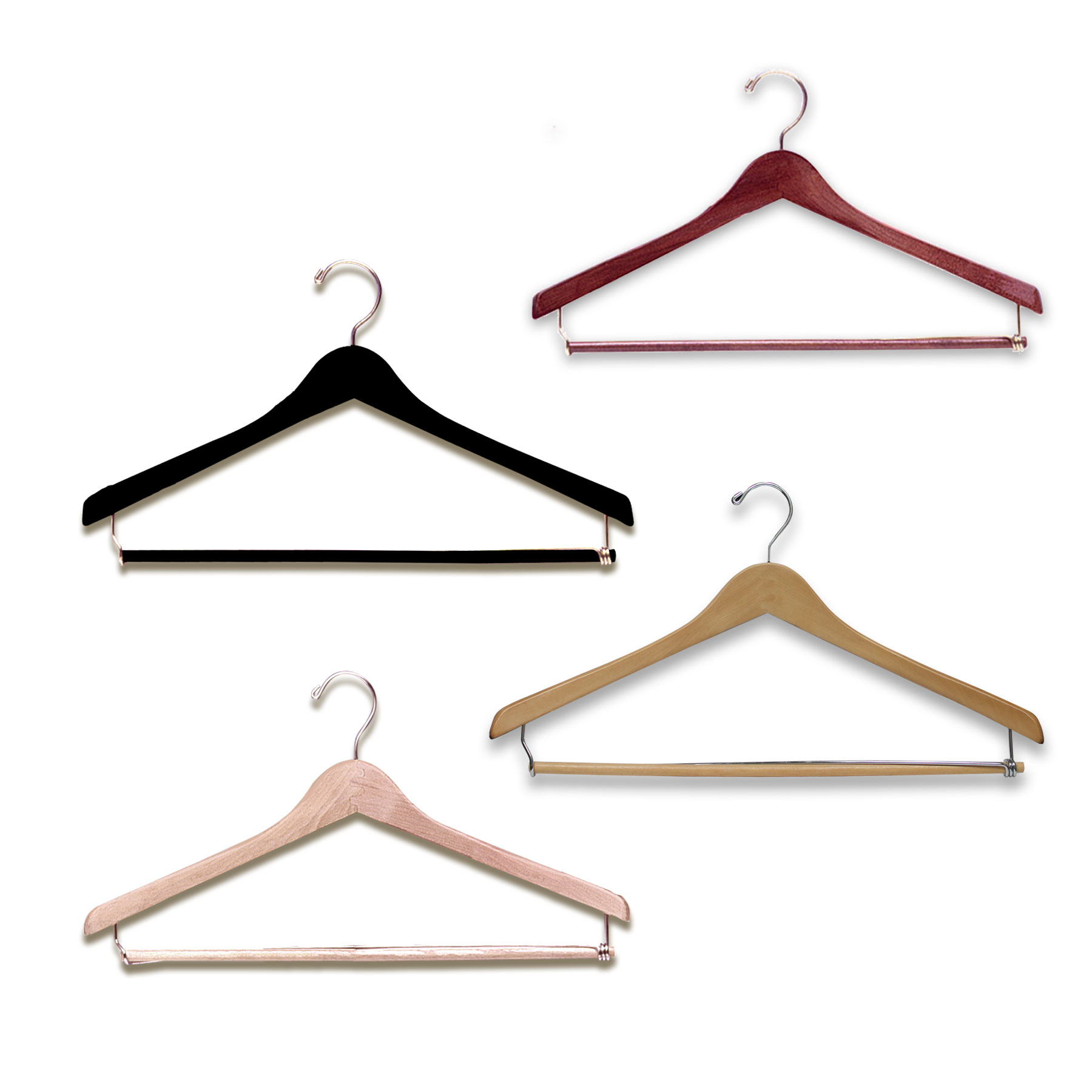 17″ Wood Suit Hanger -H100 Series