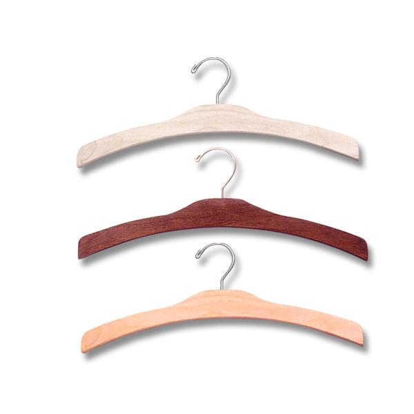 16″ Wood Dress & Top Hanger -H500 Series