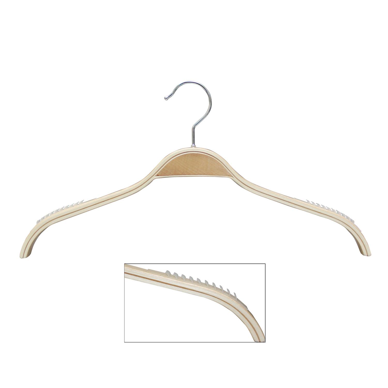 16.5″ Wood Top Hanger with Non Slip Hangers