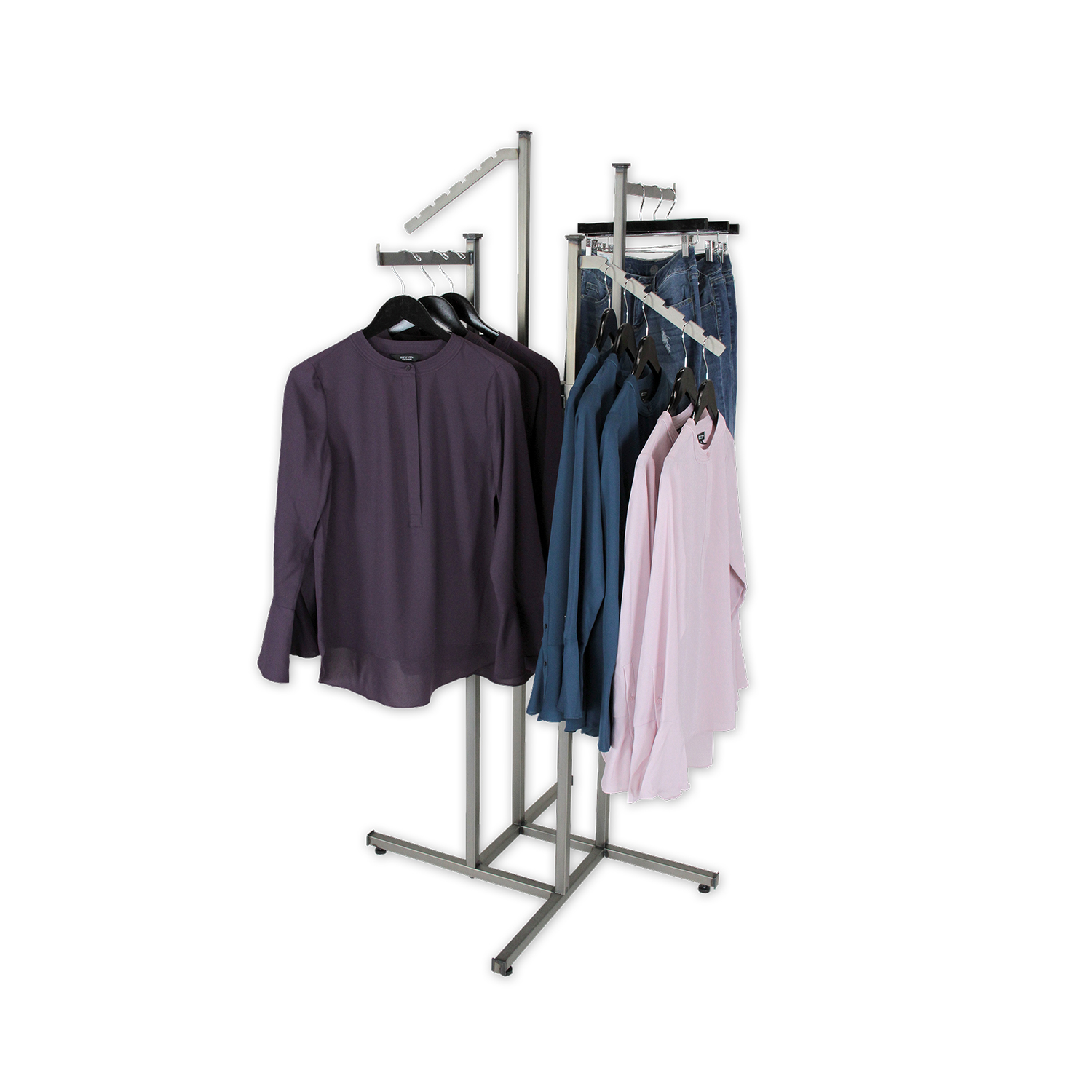 Aaron Contemporary 4 Way Raw Steel Rack