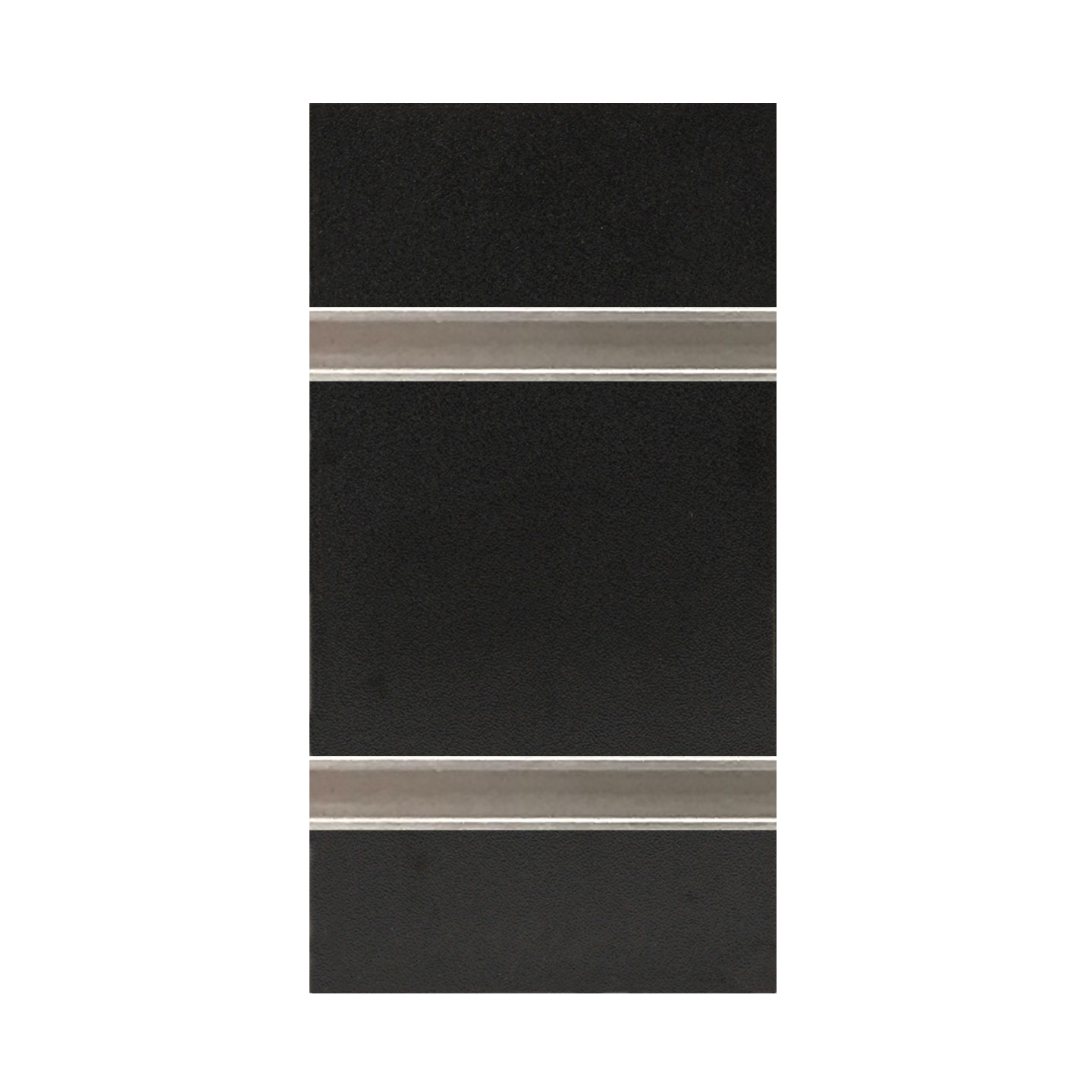 3″ O.C. Black MDF Slatwall – 18mm