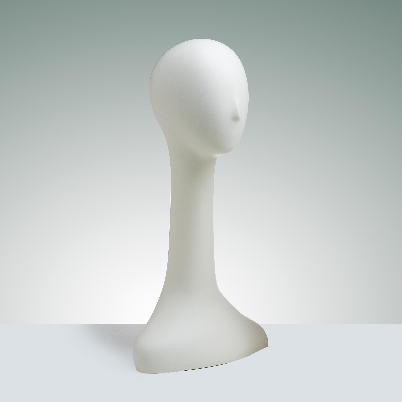 Pair of 24″ Ladies' Abstract Fiberglass Head