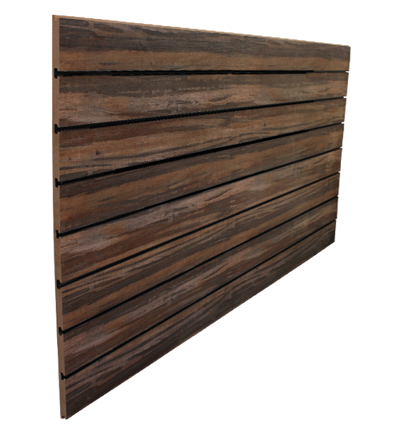 3″ O.C. Multi Wood Grain MDF Slatwall – 18mm