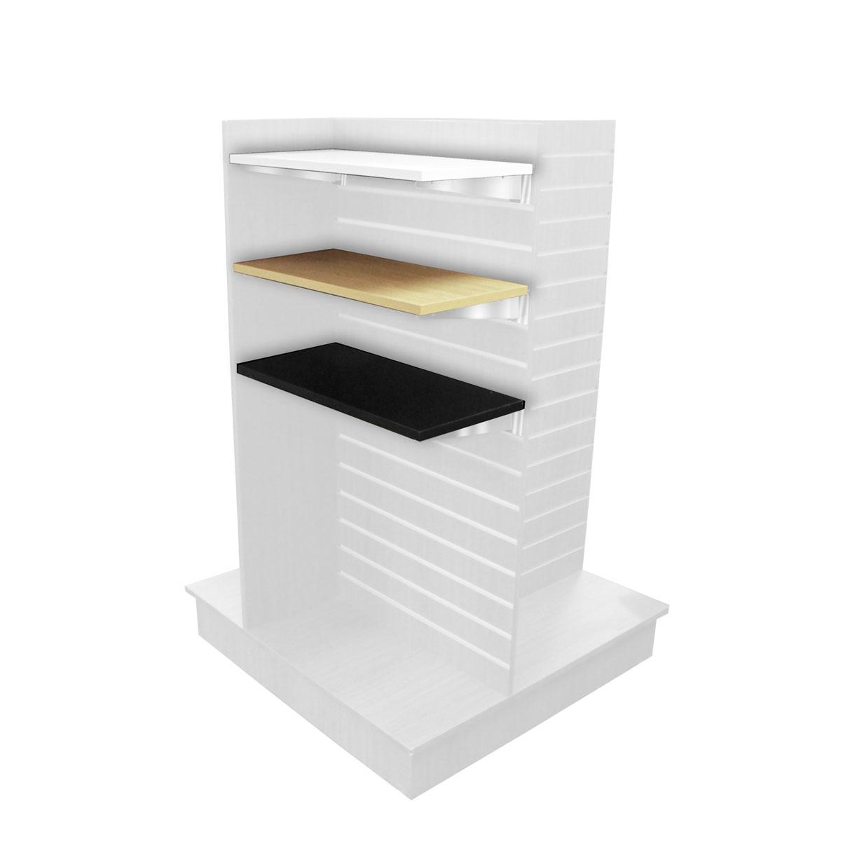 Wood Shelf For 24″ Wide Slatwall Displays