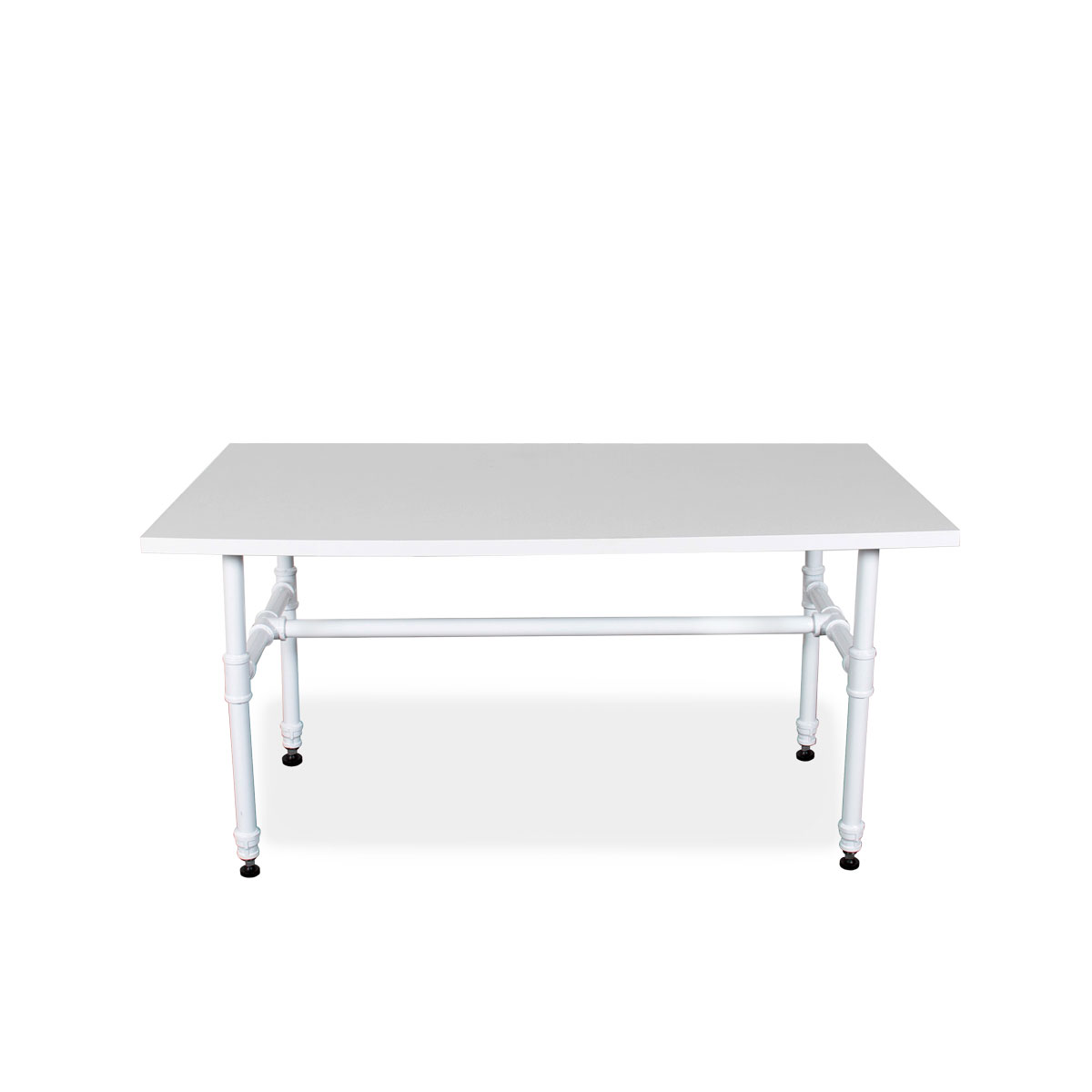 Small White Pipe Style Table