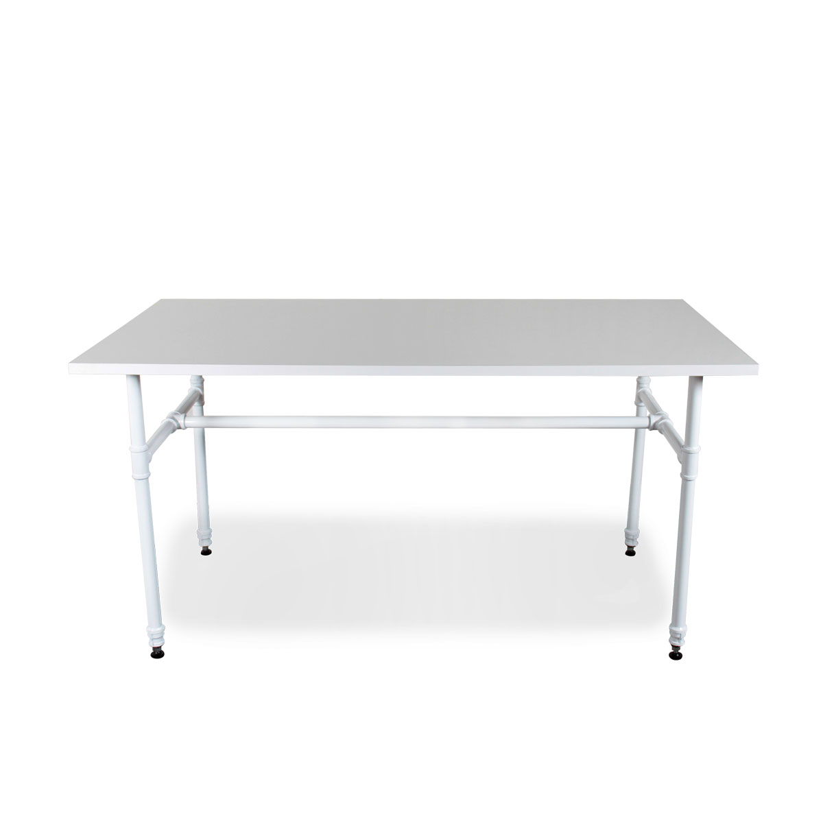 Large White Pipe Style Table