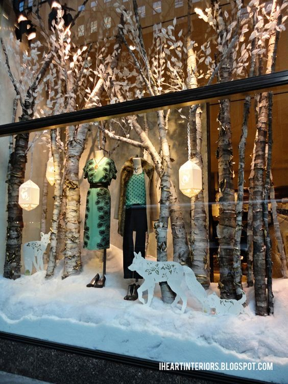 Anthropologie's cozy window: