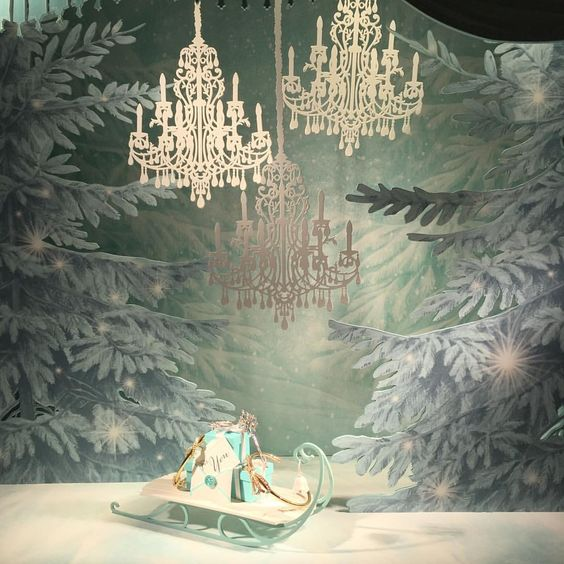 A lovely winter Tiffany window: