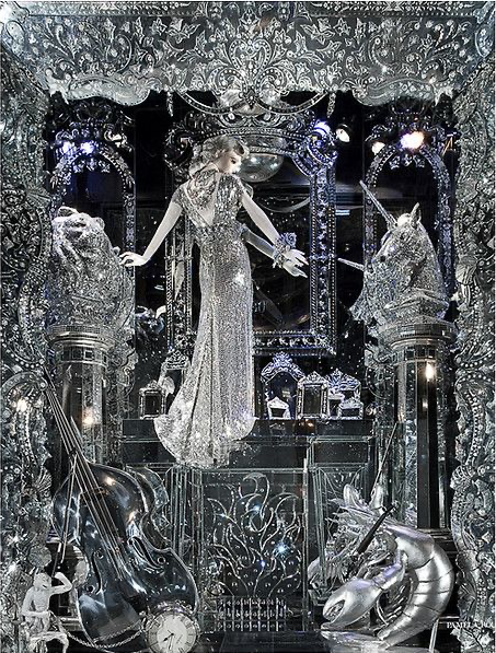 Bergdorf Goodman ornate window: