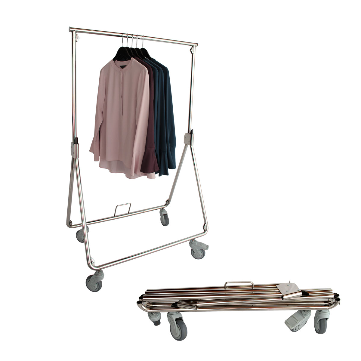 French Compact Collapsible Rolling Rack