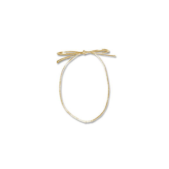 Gold Elastic Pre Tied Bow #ZE18G