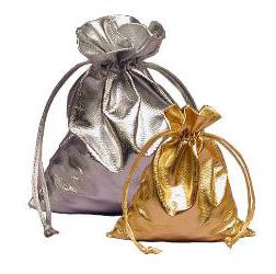 Gold Metallic Jewelry Bags