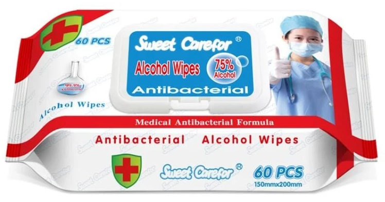 Disinfecting Antibacterial Alcohol Wipes
