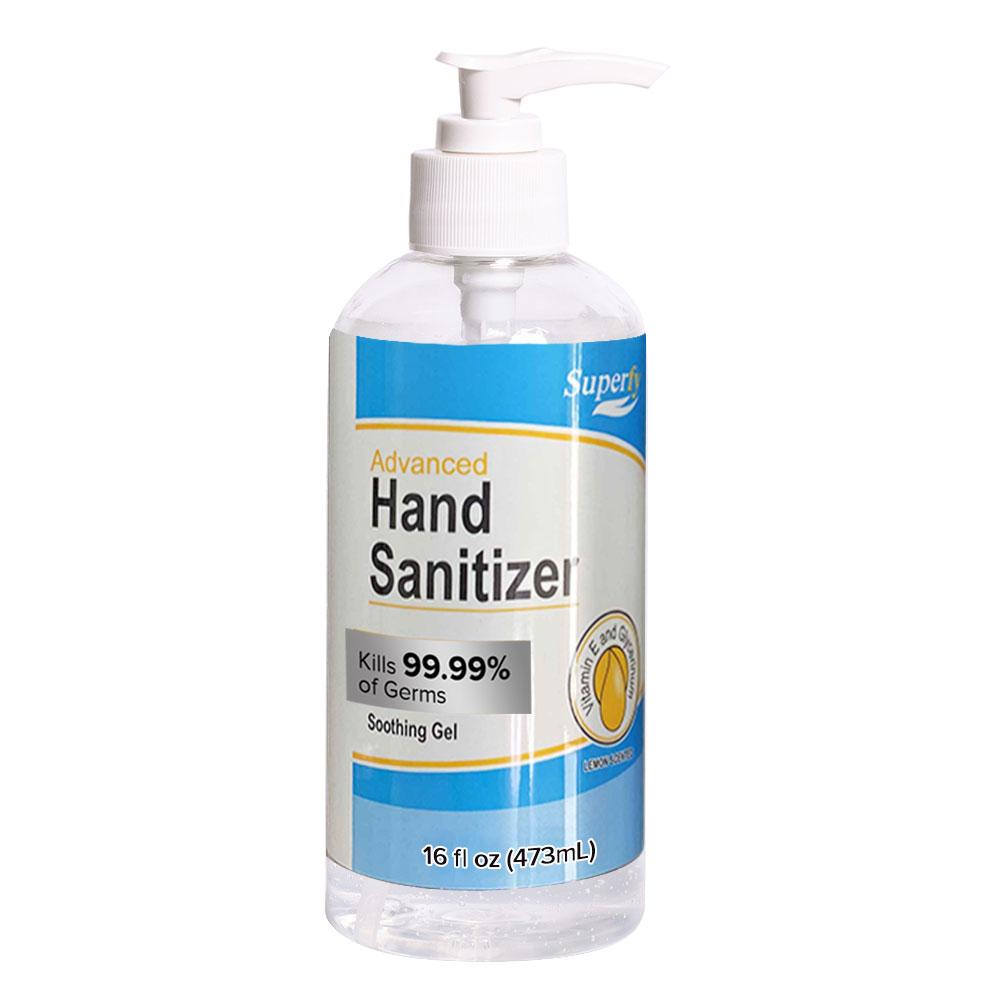 70% Alcohol Hand Sanitizer 16oz Pump Bottle